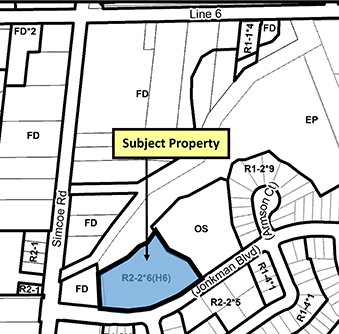 map of subject property
